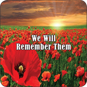 remembrance drink coaster