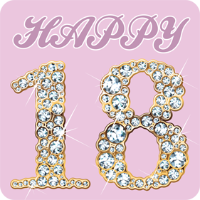 bedazzled happy 18th 18th birthday drink coaster