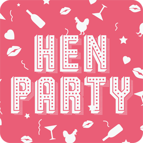hens party drink coasters