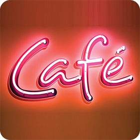 neon sign cafe coffee coaster