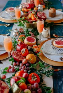 fruit table runner